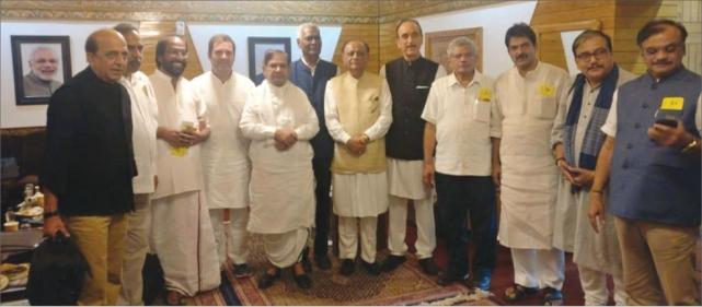 ராகுல் காந்தியுடன் கூட்டணிக் கட்சி எம்.பி-க்கள்...