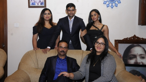 Actress Radha with family