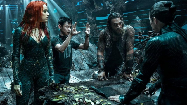 James Wan from the sets of Aquaman