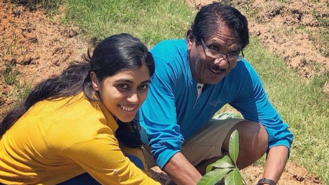Lovelyn and Director Bharathiraja