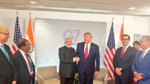 Narendra Modi with trump