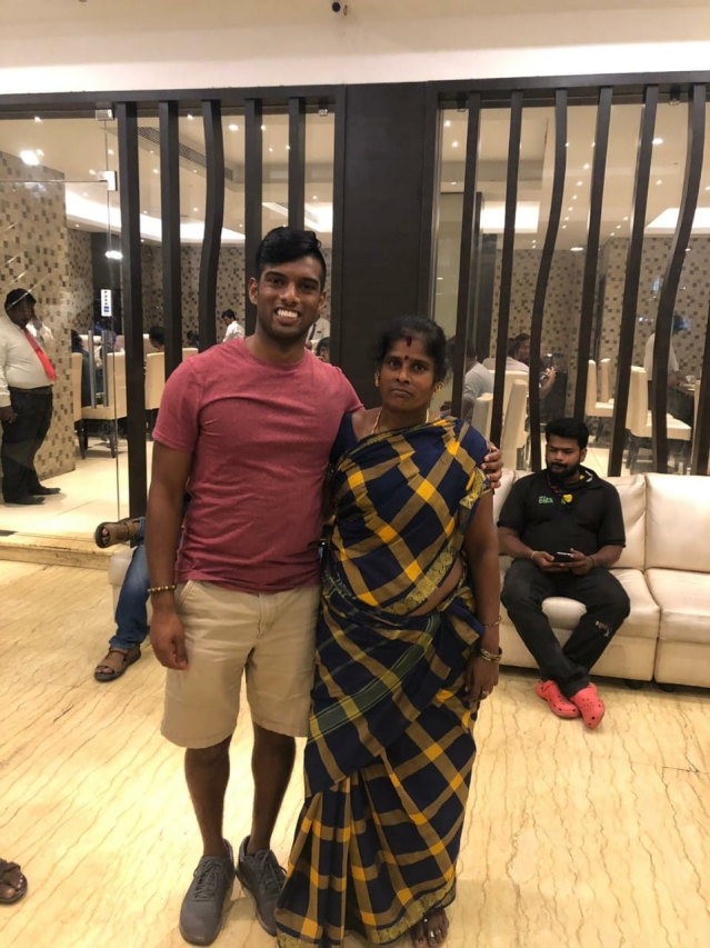 with mother Sivagamil