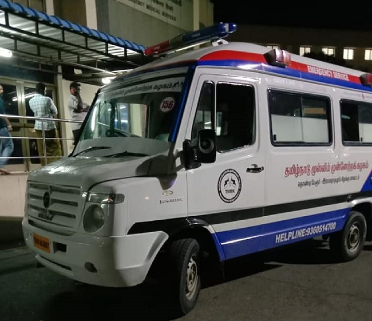 Ambulance which carried the boy