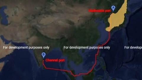 Sea Route of Chennai to Vladivostok