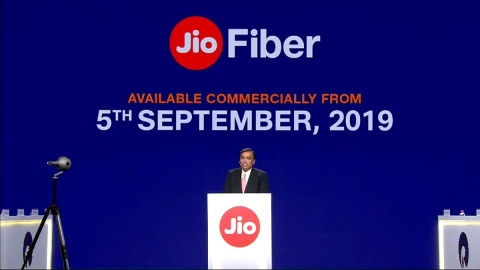 Jio GigaFiber is  here!