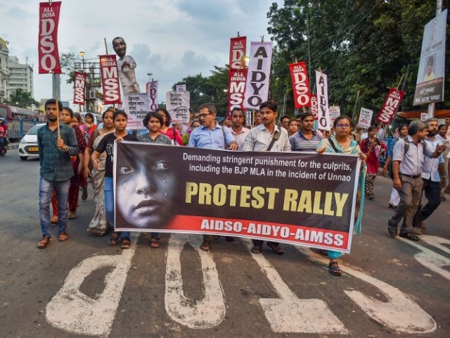 Unnao case - protests