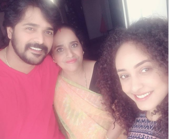 Srinish with his mom