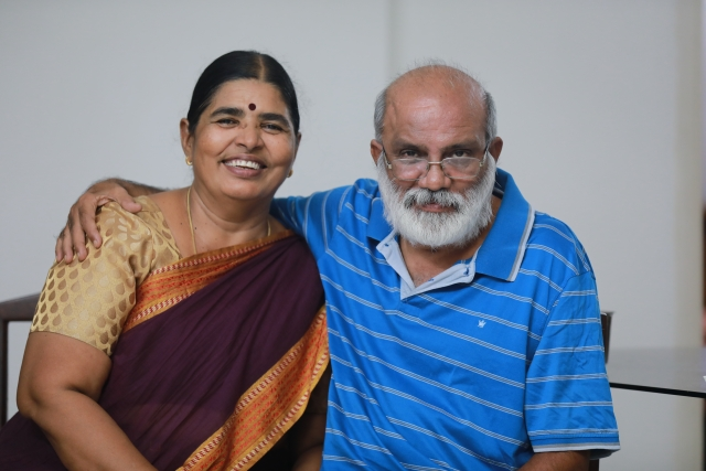 Dhanam with her Husband Chandran