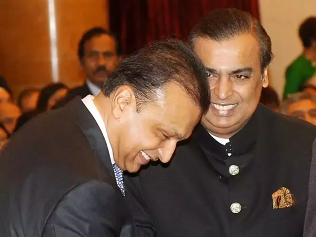 Anil Ambani and Mukesh Ambani