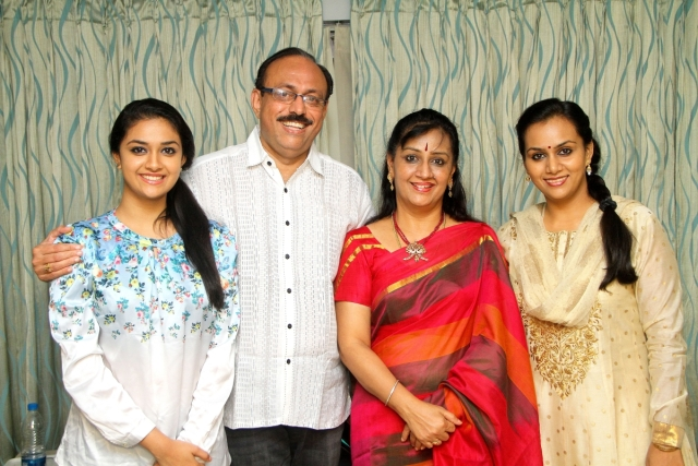 Menaka suresh with her family