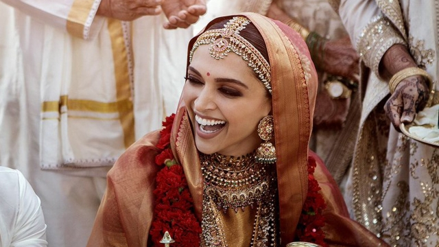 Deepika Padukone in bridal wear
