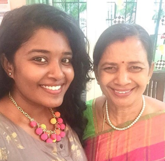 Ranjani with her Mom