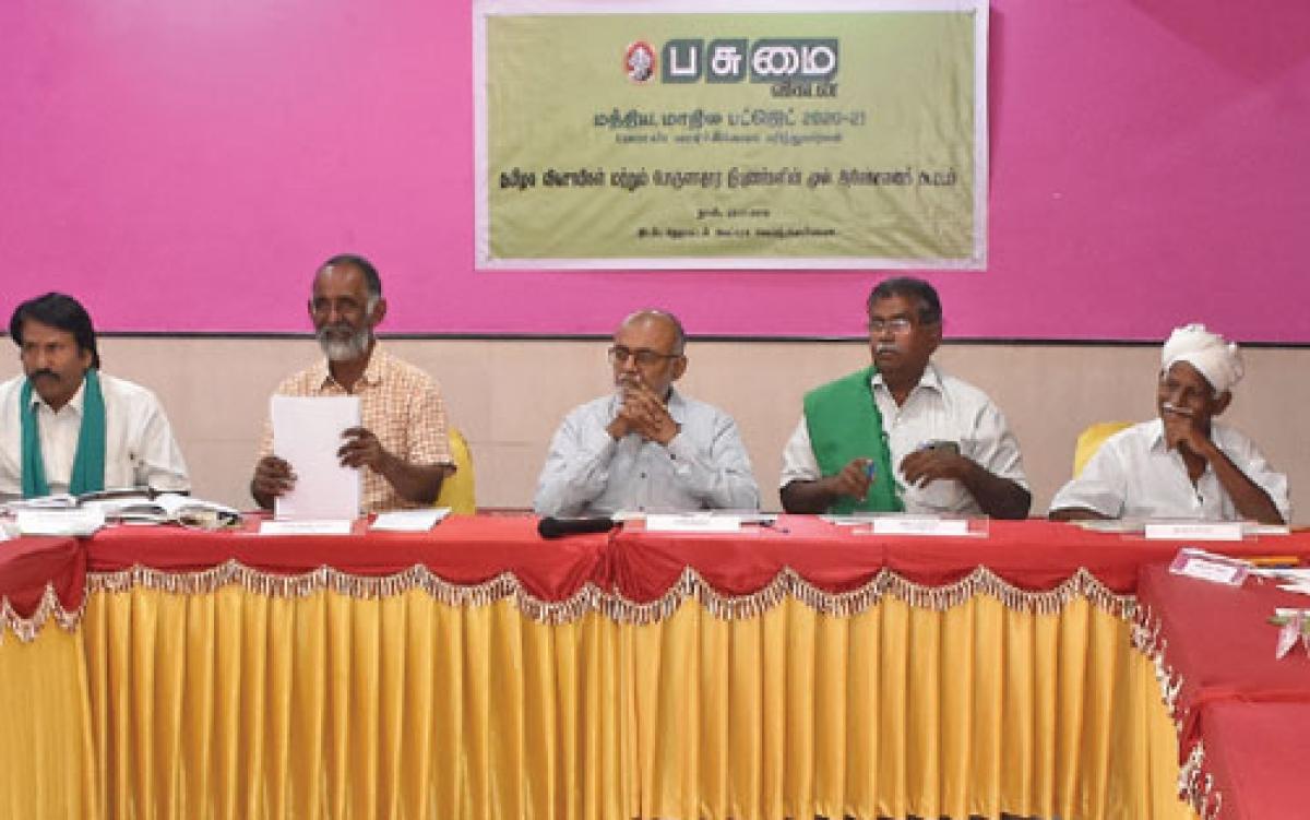 மத்திய பட்ஜெட் 2020-21 வேளாண் வளர்ச்சிக்கான பரிந்துரைகள்