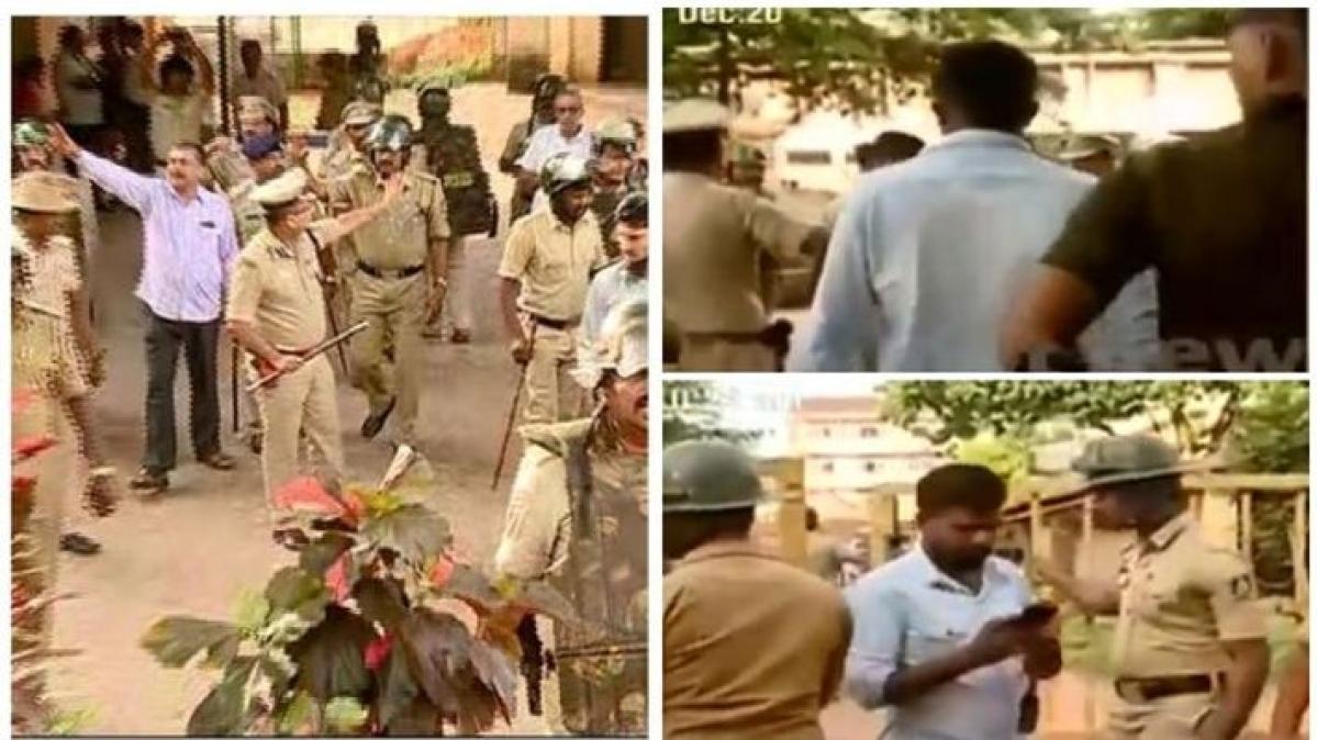கேரள செய்தியாளர்களை தடுக்கும் கர்நாடகா போலீஸ்