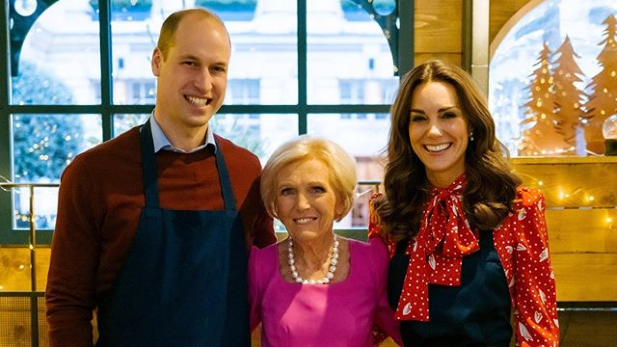 William, Kate Middleton and Chef Mary Berry