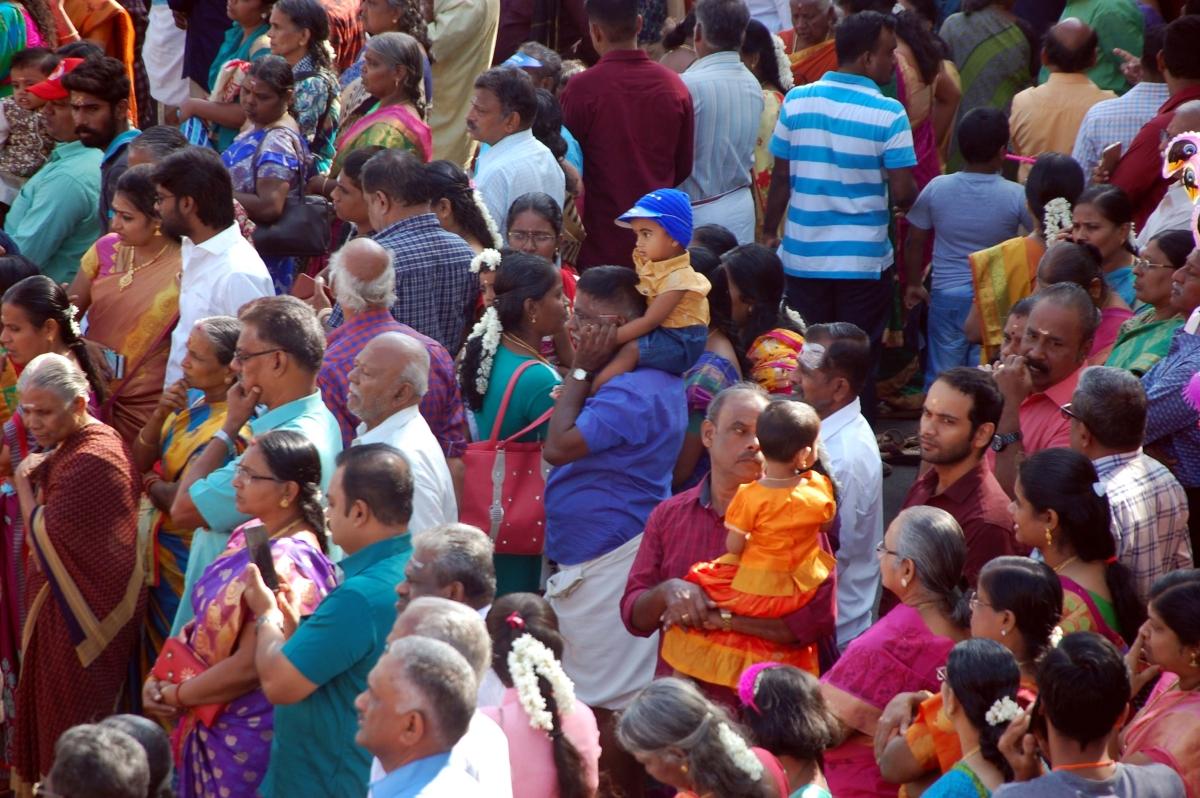 பேரனை தோளில் சுமந்து தேர் காட்டும் தாத்தா!