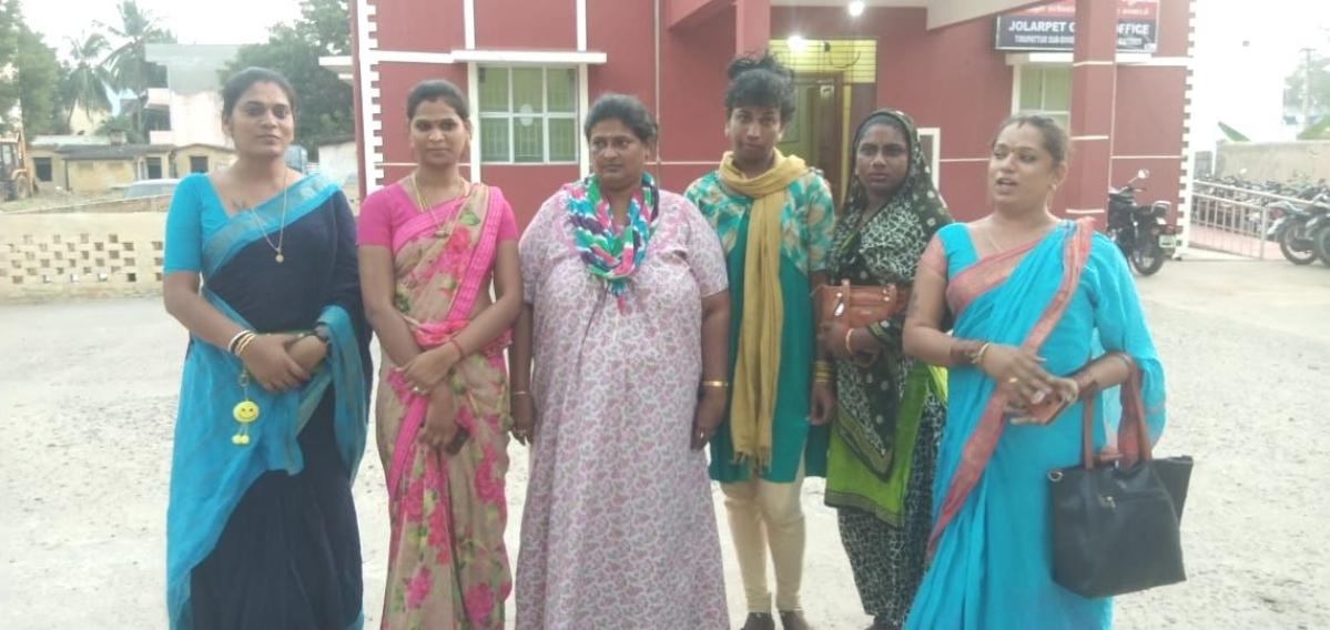 ஜோலார்பேட்டை காவல் நிலையத்தில் புகார்