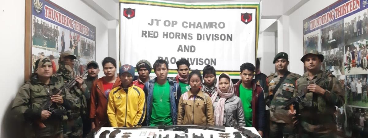 Arunachal: 9 hardcore NDFB(S) militants held in Changlang