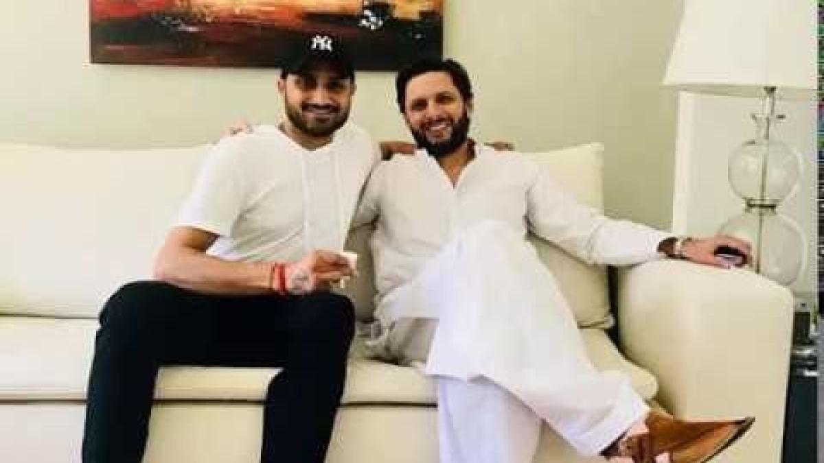 Harbhajan Singh and Shahid Afridi